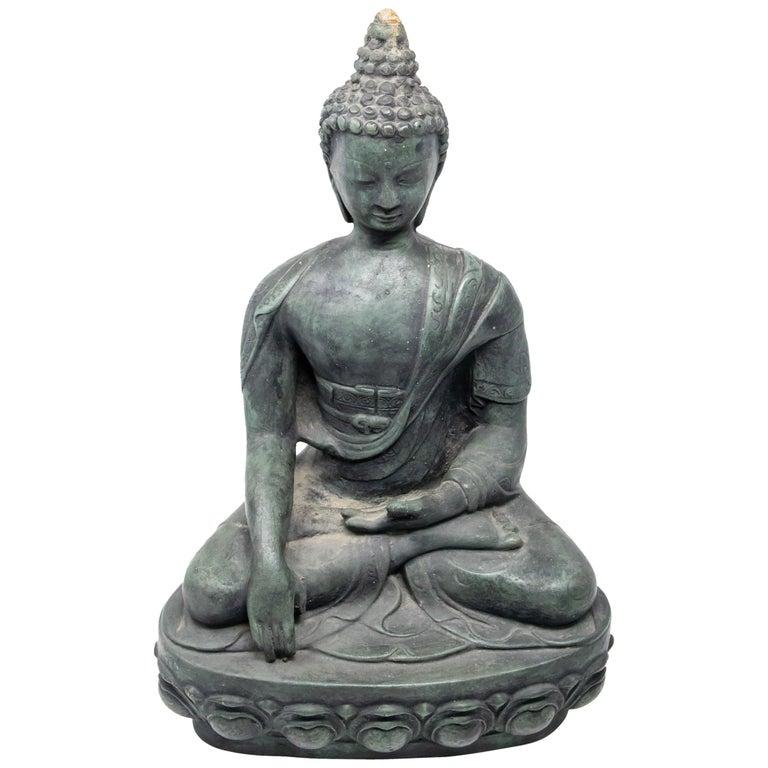 Buddha Sandstone Garden Statue, Contemporary For Sale