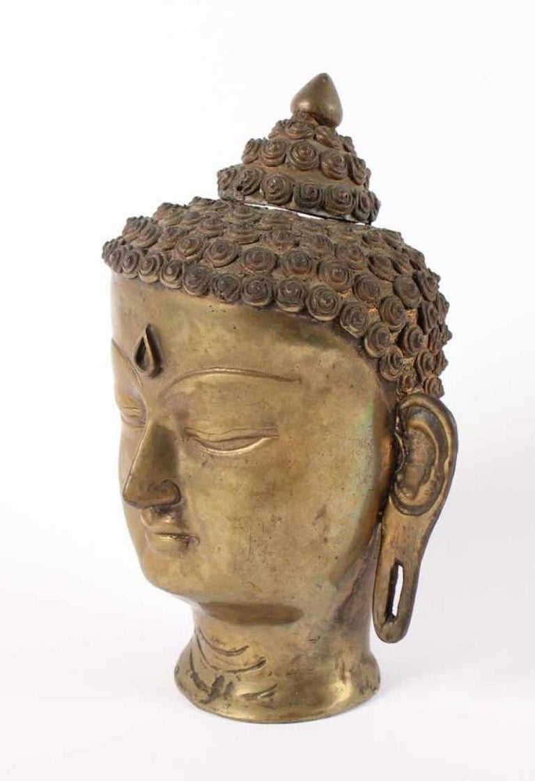 Buddha's Head is a beautiful bronze, realized in India in 20th century.
