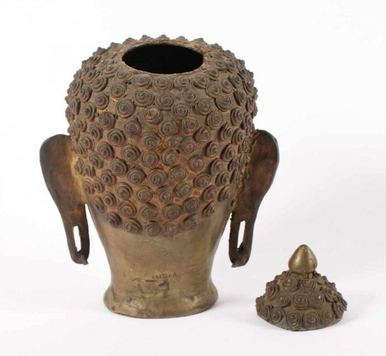 Indian Buddha's Head, India, Early 20th Century For Sale