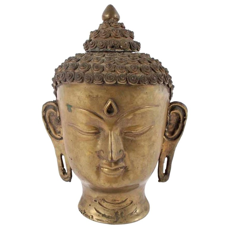 Buddha's Head, India, Early 20th Century For Sale