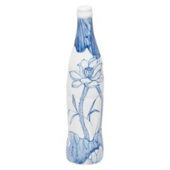 """Buddha's Lotus"" Blue and White Cola Bottle by Taikkun Li"
