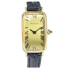 Bueche Girod 18 Karat, Yellow Midcentury Watch Originally Owned by Jerry Lewis