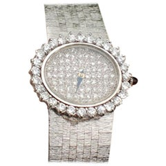 Bueche-Girod Ladies Pave Diamond Dress Watch 18 Karat White Gold, 2.65 Carat
