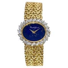 Bueche-Girod Lapis-Lazuli Dial, Diamond Bezel Classic Wristwatch