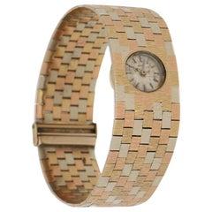 Bueche Girod Multicolored Florentine Effect Gold Brickwork Bracelet Wristwatch