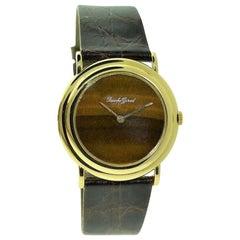 Bueche Girod Rare Tiger Eye Dress Watch with Micro Rotor Winding