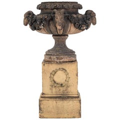 Buff Terracotta Urn by the Renowned Maker James Pulham of Broxbourne, circa 1880