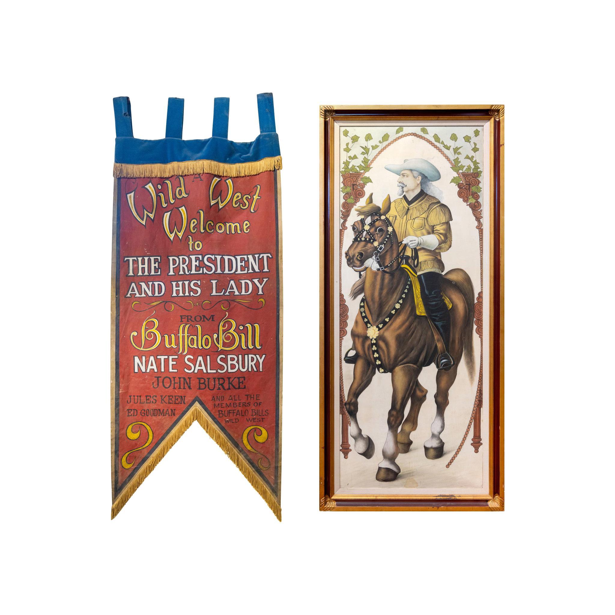 "Original Buffalo Bill Movie Banners 84""Long"