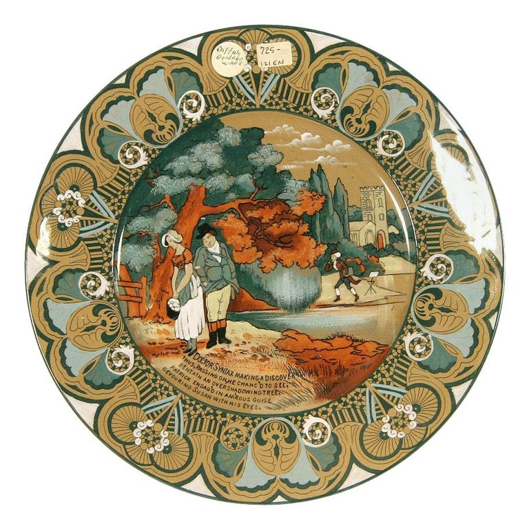 """Buffalo Pottery Deldare """"Dr Syntax"""" Plate For Sale"""