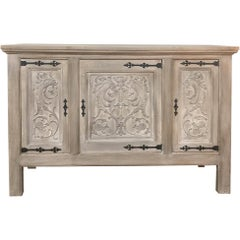 Buffet, Antique Gothic in Whitewashed Oak