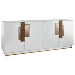 Buffet Cabinet Handles in Liquid Metal Led Lighting with Opening Sensor