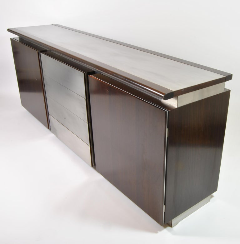 Steel Buffet, Design L. Acerbis and G. Stoppino for Acerbis International, Italy, 1960 For Sale