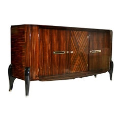 Buffet in Macassar Ebony from the Classicist Line of Jean Pascaud's 1940s France
