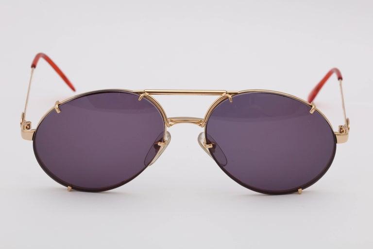 Women's or Men's Bugatti Aviator Vintage Sunglasses 65359 For Sale