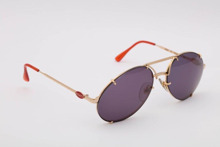 Bugatti Aviator Vintage Sunglasses 65359 For Sale 1