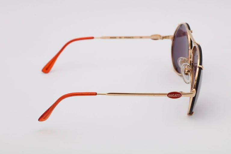 Bugatti Aviator Vintage Sunglasses 65359 For Sale 2