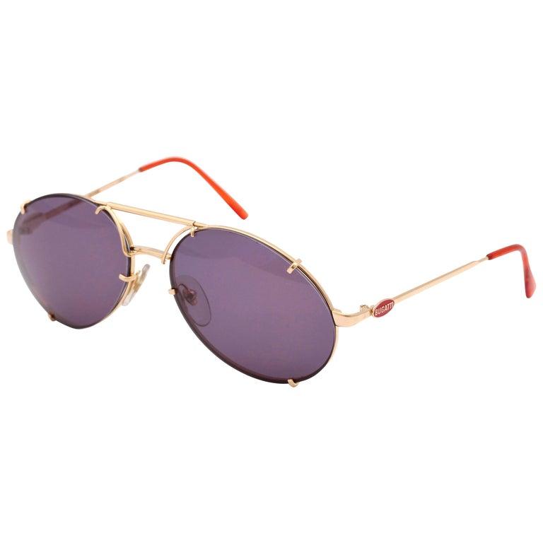 Bugatti Aviator Vintage Sunglasses 65359 For Sale