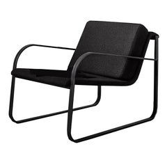 Black Bugatti Lounge Chair, Designed by Lievore Altherr Molina, Made in Italy