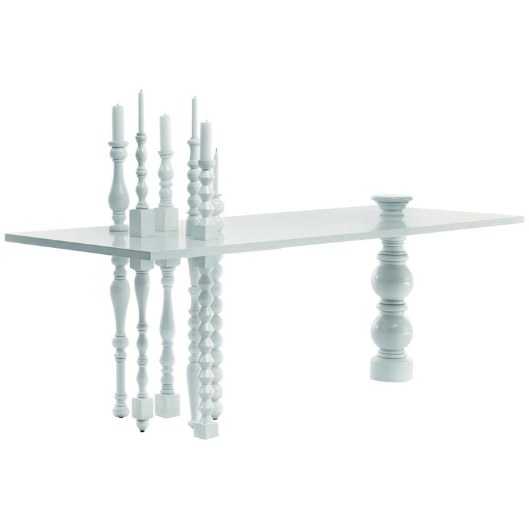 Bugie Table in White Finish by Annebet Philps & Mogg For Sale