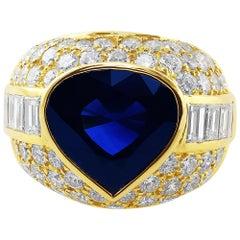 Bulgari 10 Carat Sapphire Ring Gubelin Lab Certified