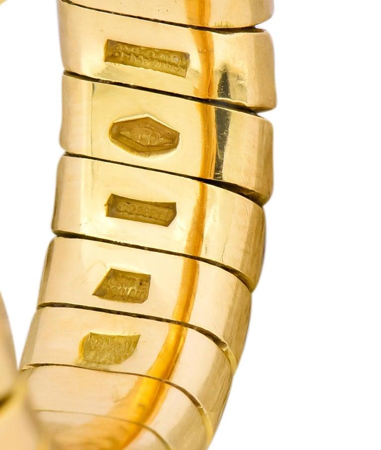 Bulgari 1.50 Carat Pink Tourmaline Peridot 18 Karat Yellow Gold Heart Ring For Sale 5