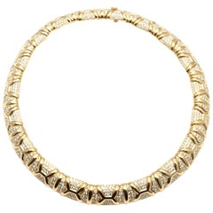 Bulgari 16 Carat Diamond Yellow Gold Choker Necklace