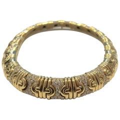 Bulgari 18 Carat Yellow Gold and Diamond Parentesi Choker Necklace