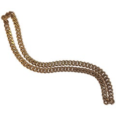 Bulgari 18 Carat Yellow Gold Heavy Link Chain Necklace