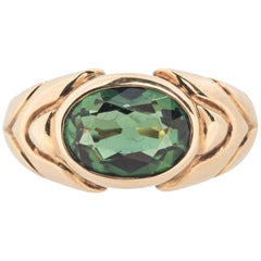 Bulgari 18 Karat Gold Tourmaline Ring
