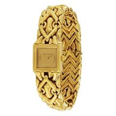 Bulgari 18 Karat Gold Trika Bracelet Watch BJ 07