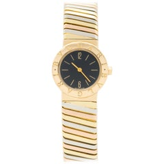 Bulgari 18 Karat Tricolor Gold Tubogas Watch Model BB 23 2T