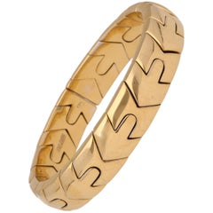 Bulgari 18 Karat Two-Tone Yellow Gold Bracelet