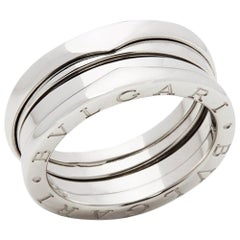 Bulgari 18 Karat White Gold 4 Band B.Zero 1 Band Ring