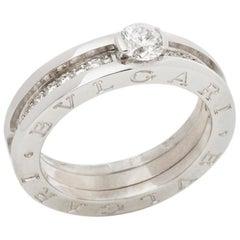 Bulgari 18 Karat White Gold Diamond B.Zero 1 Band Ring