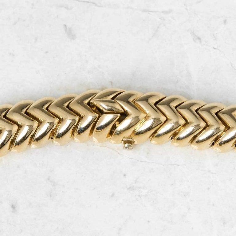 Round Cut Bulgari 18 Karat Yellow Gold 3.00 Carat Diamond Link Statement Necklace For Sale