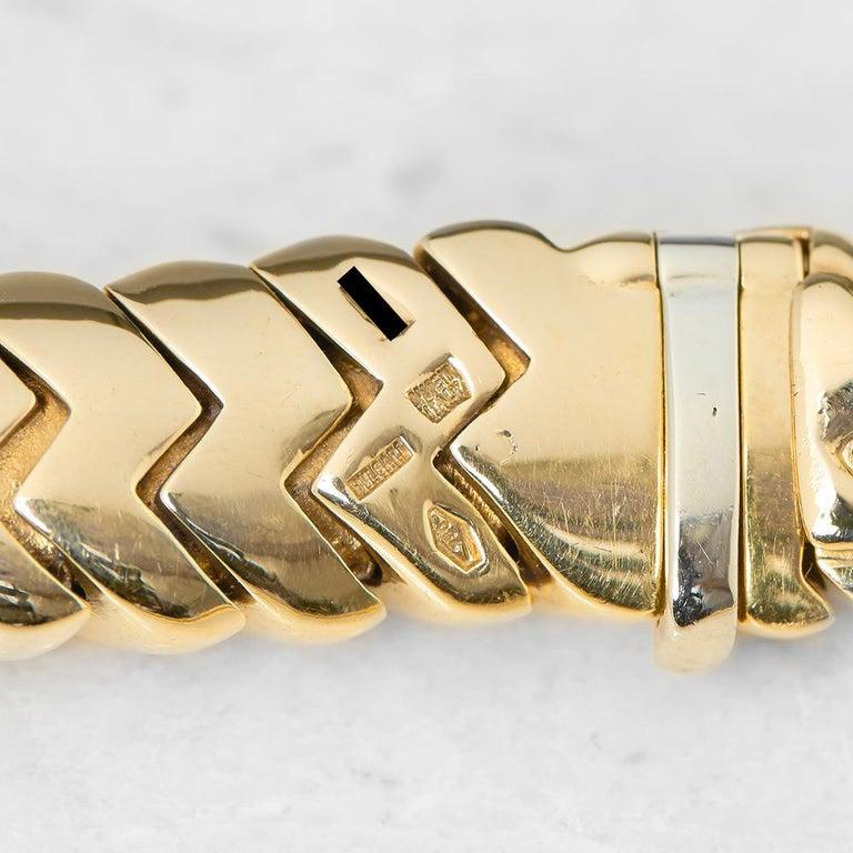 Women's Bulgari 18 Karat Yellow Gold 3.00 Carat Diamond Link Statement Necklace For Sale
