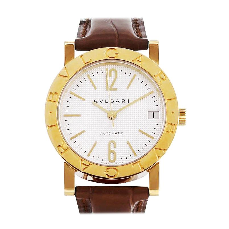 Bulgari 18 Karat Yellow Gold Automatic Watch BB33GL