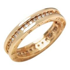 Bulgari 18 Karat Yellow Gold Diamond B.Zero 1 Band Ring