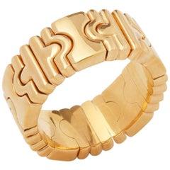 Bulgari 18 Karat Yellow Gold Flexible Parentesi Band Ring