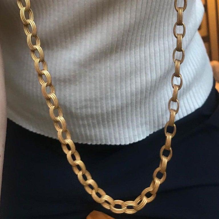 Bulgari 18 Karat Yellow Gold Long Chain Link Necklace 6