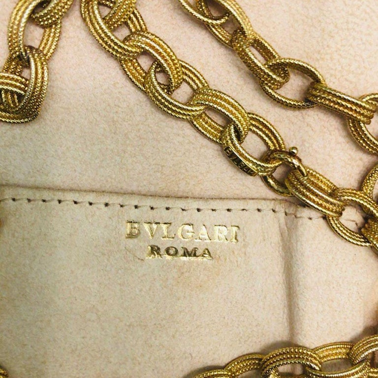 Bulgari 18 Karat Yellow Gold Long Chain Link Necklace 9