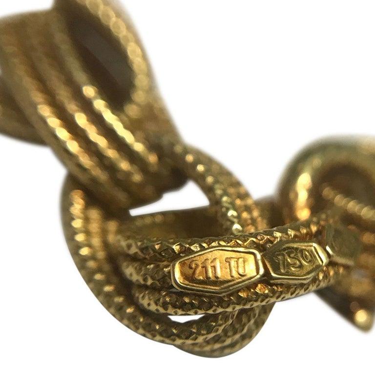 Women's Bulgari 18 Karat Yellow Gold Long Chain Link Necklace