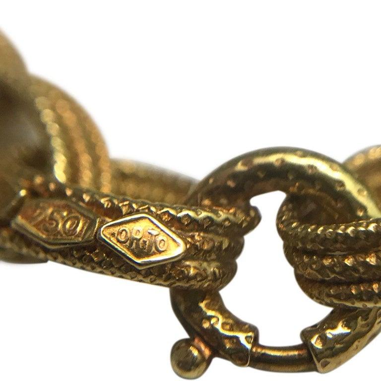 Bulgari 18 Karat Yellow Gold Long Chain Link Necklace 1