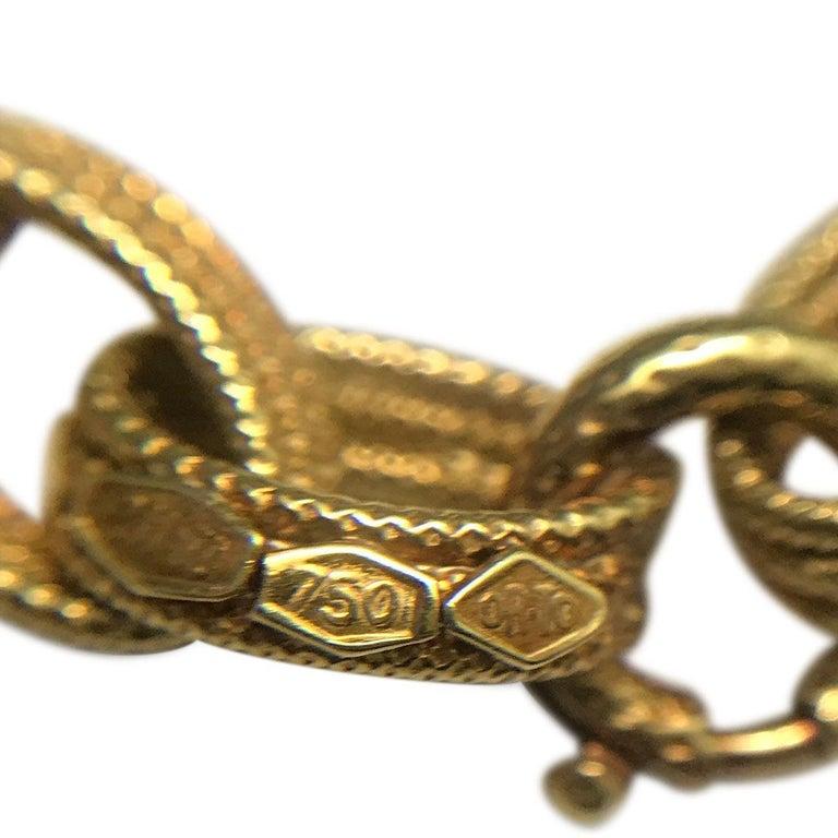 Bulgari 18 Karat Yellow Gold Long Chain Link Necklace 2