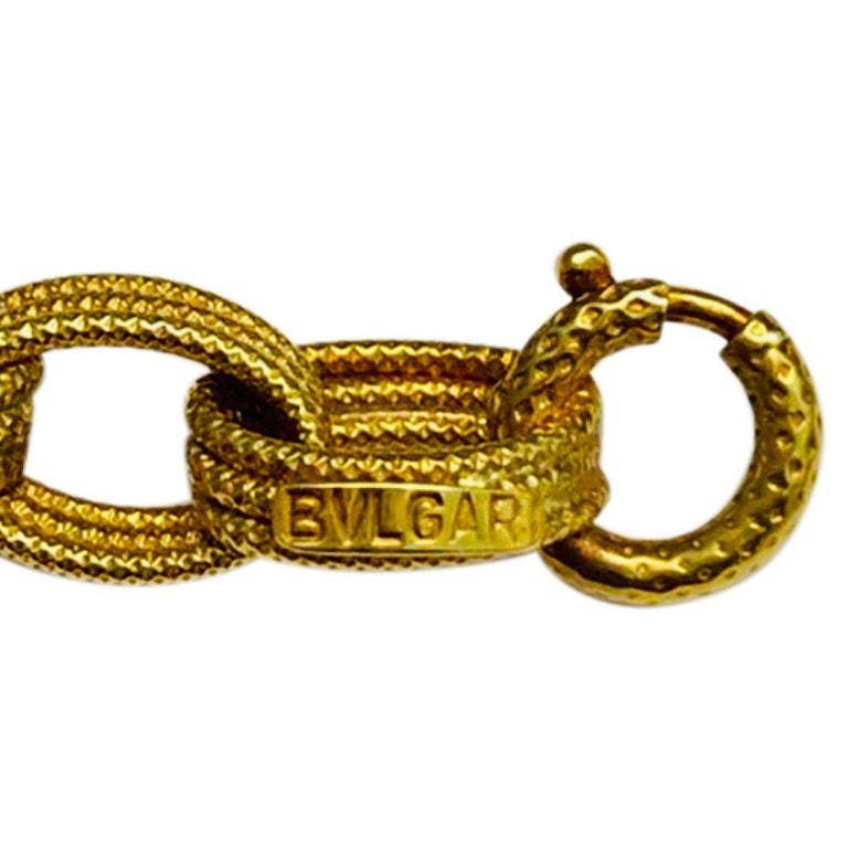Bulgari 18 Karat Yellow Gold Long Chain Link Necklace 3