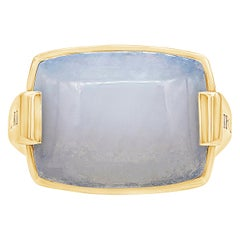 Bulgari 18 Karat Yellow Gold Moonstone Cocktail Ring