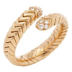 Bulgari 18 Karat Yellow Gold Serpenti Diamond Ring
