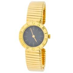 Bulgari 18 Karat Yellow Gold Tubogas Serpenti Flex Band Quartz Wristwatch
