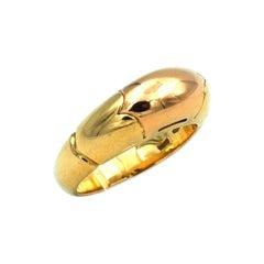 Bulgari 18K Two Tone Gold Band Ring