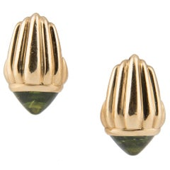 Bulgari 18k Yellow Gold and Peridot Earrings